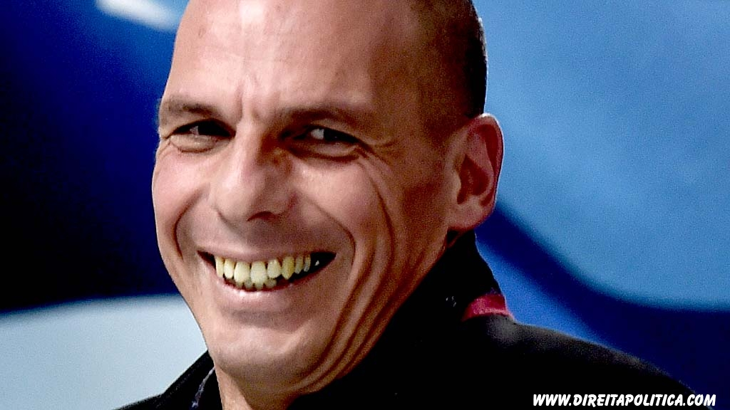 "Greece's new Finance minister Yanis Varoufakis smiles after a ministry hand-over ceremony in Athens on January 28, 2015. Varoufakis said today he wants to see a pan-European deal to encourage growth. The new anti-austerity Syriza-led government wants ""a pan-European +New Deal+ that will lead Europe to a reboot"", Varoufakis told journalist. AFP PHOTO / ARIS MESSINIS        (Photo credit should read ARIS MESSINIS/AFP/Getty Images)"